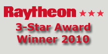 A&V Engineering received the 3-Star Supplier Excellence Award from Raytheon in 2010.